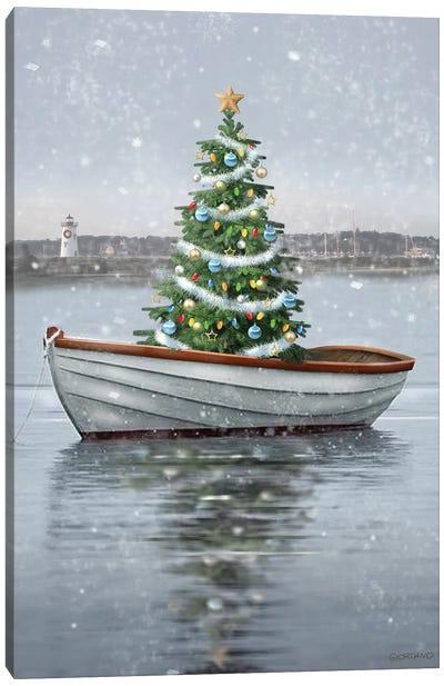 Holiday Harbor Canvas Art Print