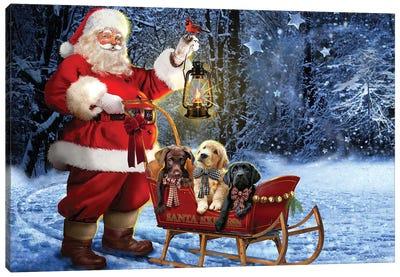 Santa's Special Trio Canvas Art Print