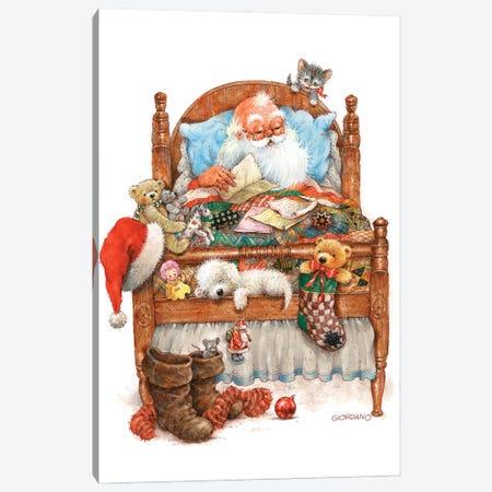 Sweet Dreams Santa Canvas Print #GIO199} by Giordano Studios Canvas Art