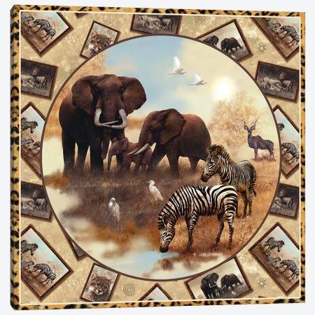 Safari Square Circle Canvas Print #GIO23} by Giordano Studios Canvas Art