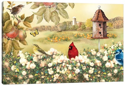 Above The Flowers Canvas Art Print