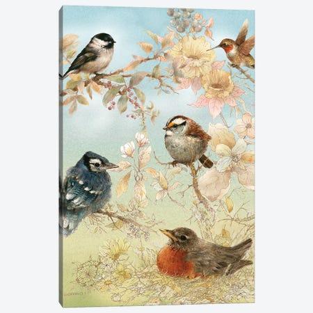 Baby Songbirds Canvas Print #GIO30} by Giordano Studios Art Print