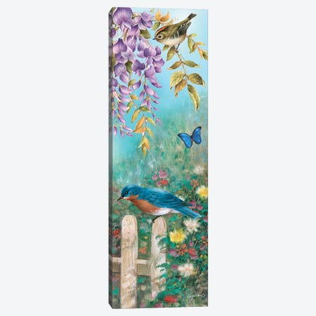 Backyard Bluebird Canvas Print #GIO31} by Giordano Studios Art Print