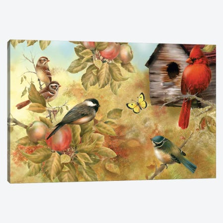 Of Apples And Songbirds Canvas Print #GIO38} by Giordano Studios Canvas Print