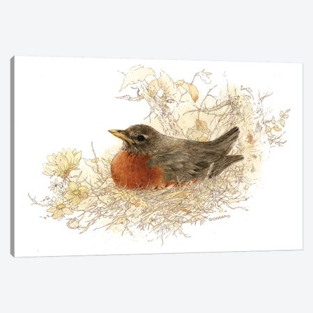 Robin Vignette 3-Piece Canvas #GIO39} by Giordano Studios Canvas Print