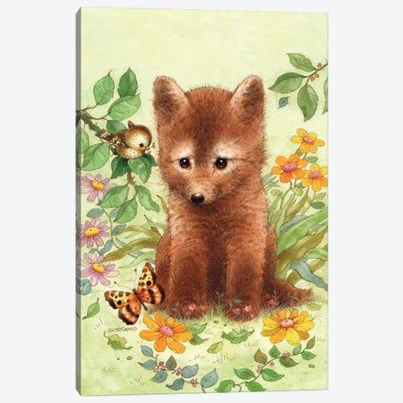 Baby Fox Canvas Print #GIO3} by Giordano Studios Canvas Art