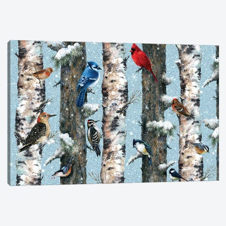 Songbirds In The Forest Canvas Print #GIO41} by Giordano Studios Canvas Art
