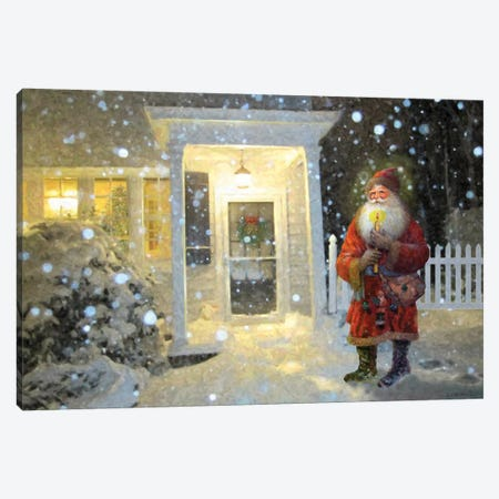 A Visit From Santa Canvas Print #GIO45} by Giordano Studios Canvas Art Print