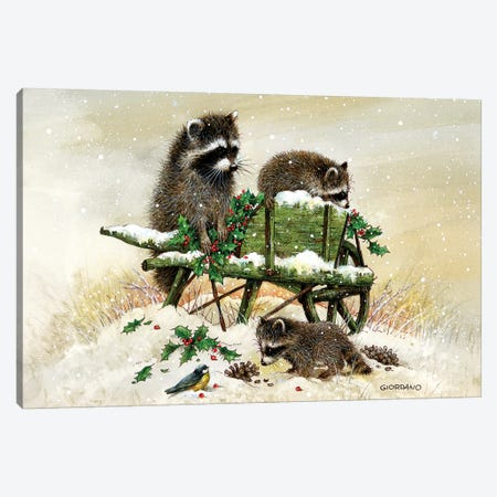 Bandits On The Wagon Canvas Print #GIO48} by Giordano Studios Canvas Wall Art