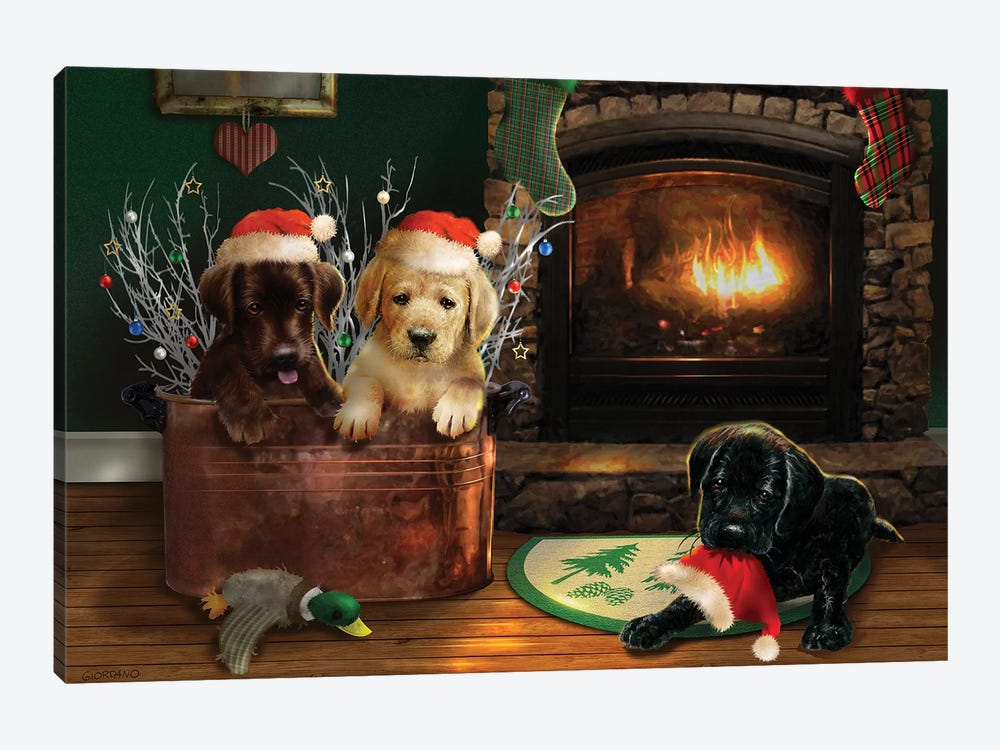 Fireside Lab Trio by Giordano Studios 1-piece Canvas Art Print