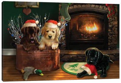 Fireside Lab Trio Canvas Art Print