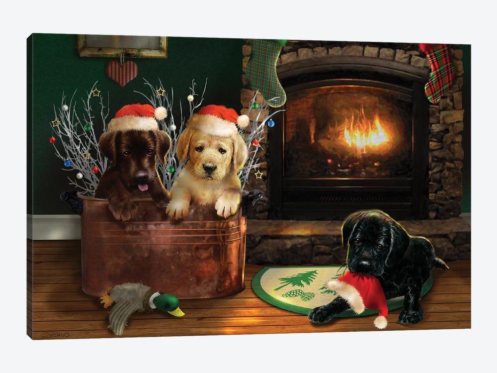 Fireside Lab Trio by Giordano Studios 1-piece Canvas Art Print