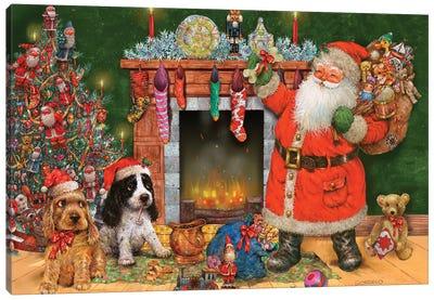 Good Dogs For Santa Canvas Art Print