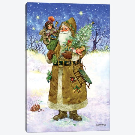Old World Santa Canvas Print #GIO66} by Giordano Studios Art Print