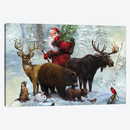 Santa's Best Friends} by Giordano Studios Canvas Art Print