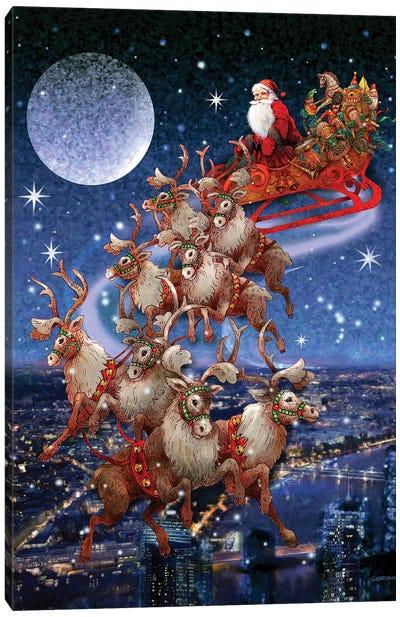 Santa's Sleighride Canvas Art Print