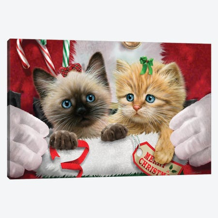 Santa's Surprise Canvas Print #GIO69} by Giordano Studios Canvas Artwork
