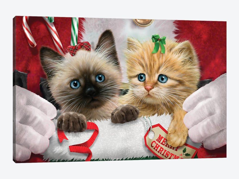 Santa's Surprise by Giordano Studios 1-piece Canvas Art Print