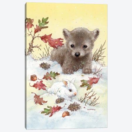 Baby Wolf Canvas Print #GIO6} by Giordano Studios Canvas Print