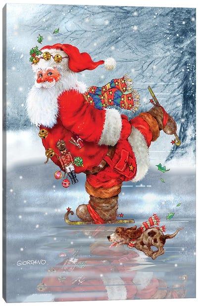 Skating Santa Canvas Art Print
