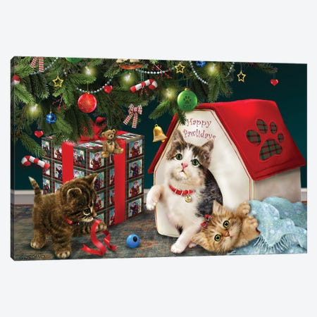 Under The Christmas Tree Canvas Print #GIO76} by Giordano Studios Canvas Artwork
