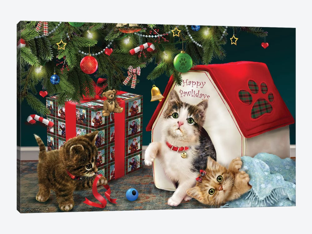 Under The Christmas Tree by Giordano Studios 1-piece Art Print