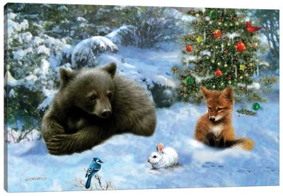 Woodland Playmates Canvas Art Print