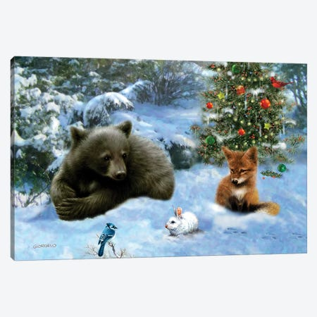 Woodland Playmates Canvas Print #GIO79} by Giordano Studios Canvas Print