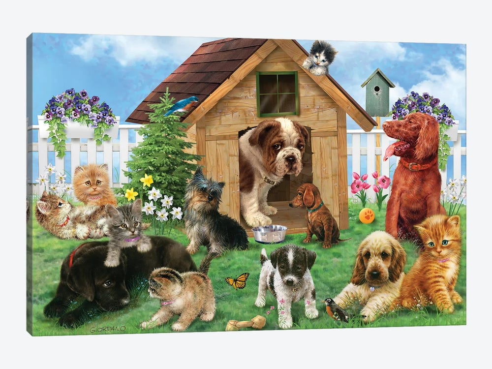 Aftenoon Playdate by Giordano Studios 1-piece Canvas Wall Art