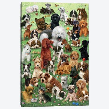 Field O Puppies Canvas Print #GIO88} by Giordano Studios Canvas Artwork