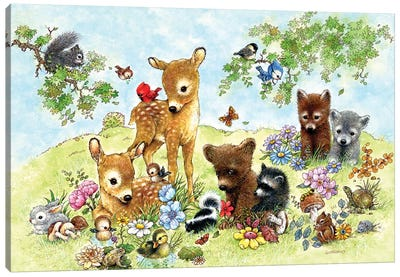 Field Of Critters Canvas Art Print