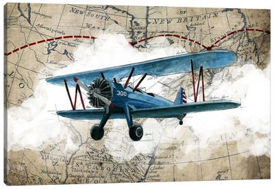 Biplane I Canvas Art Print