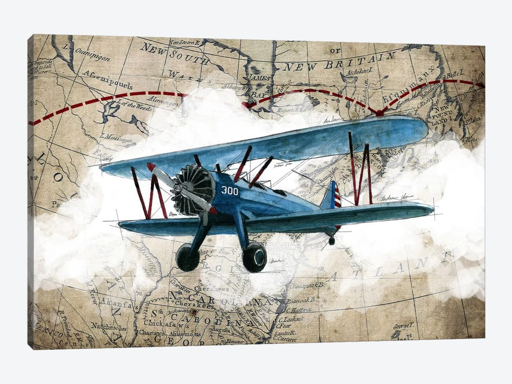 Biplane I by GraphINC Studio 1-piece Canvas Print