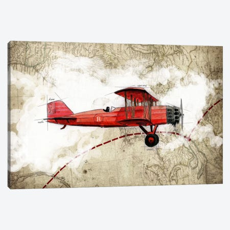 Biplane III Canvas Print #GIS3} by GraphINC Studio Canvas Print
