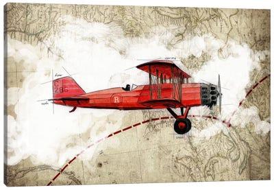 Biplane III Canvas Art Print
