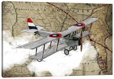 Biplane IV Canvas Art Print