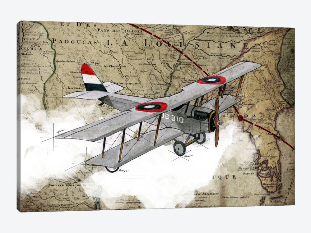 Biplane IV by GraphINC Studio 1-piece Canvas Art