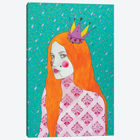 Queen Of Hearts Canvas Print #GIU9} by Giulia Caruso Canvas Art Print