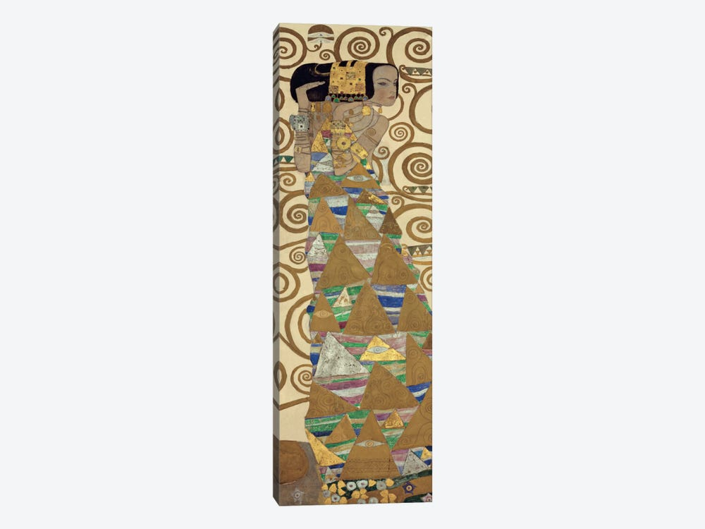Expectation, Vertical by Gustav Klimt 1-piece Canvas Artwork