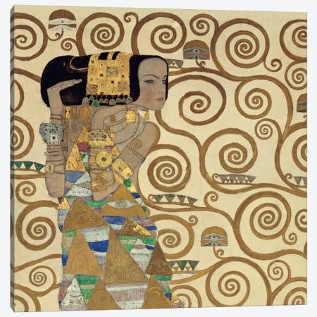 Expectation, Square Canvas Print #GKL13} by Gustav Klimt Canvas Print