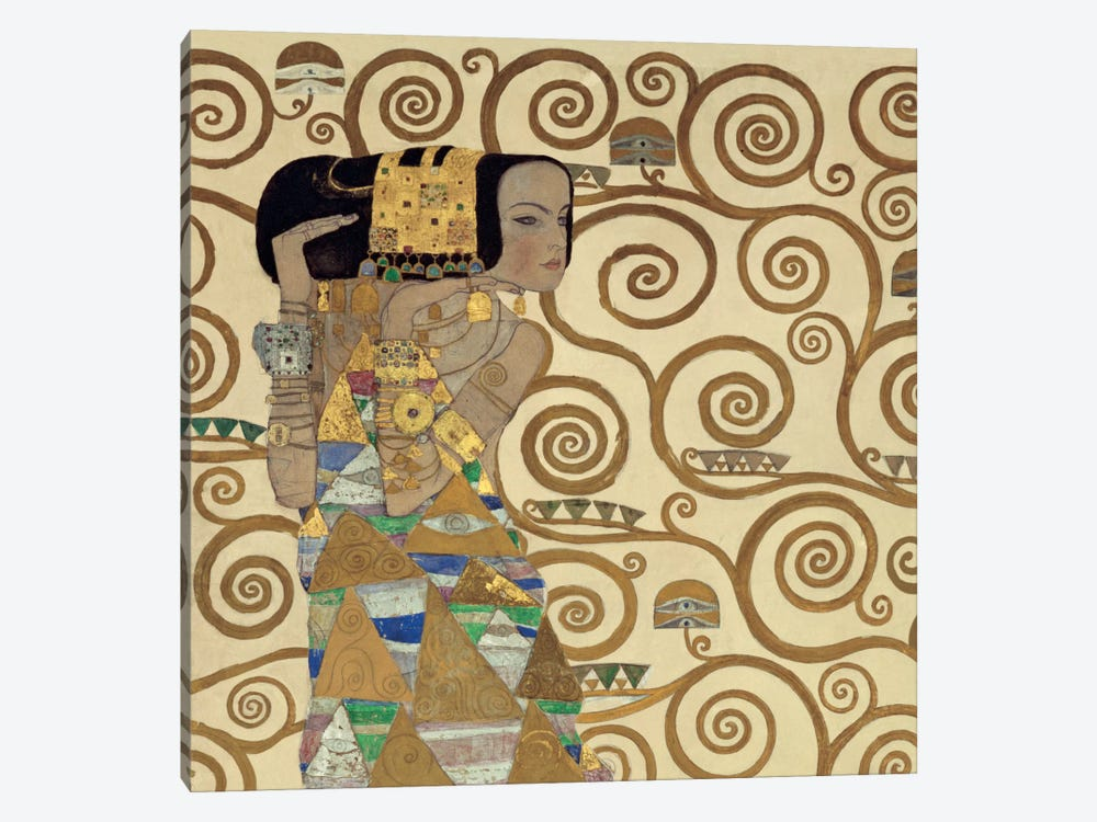 Expectation, Square by Gustav Klimt 1-piece Canvas Art