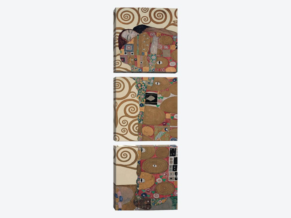Fulfillment, Vertical by Gustav Klimt 3-piece Canvas Print