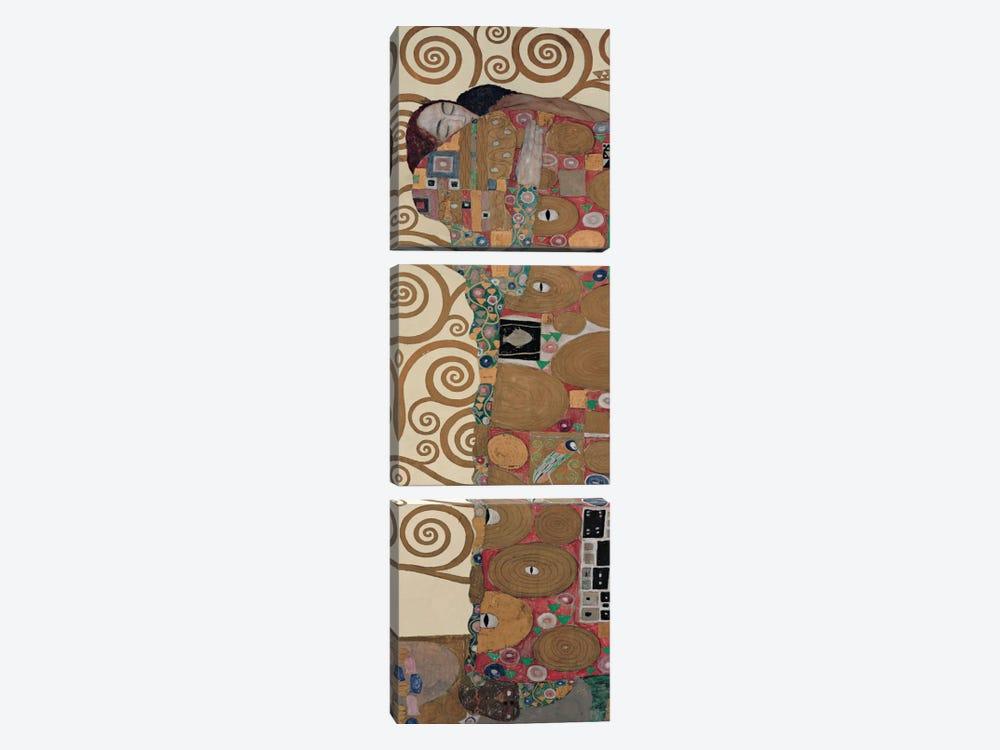 Fulfillment, Vertical by Gustav Klimt 3-piece Canvas Print