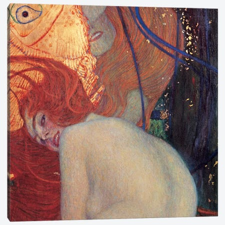 Goldfish, Square Detail Canvas Print #GKL19} by Gustav Klimt Canvas Art Print