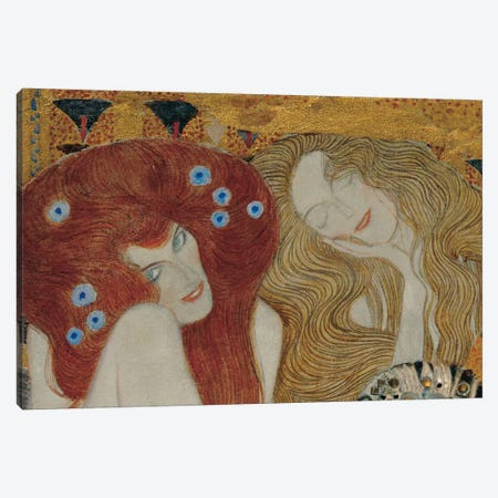 Beethoven Frieze Canvas Print #GKL1} by Gustav Klimt Art Print