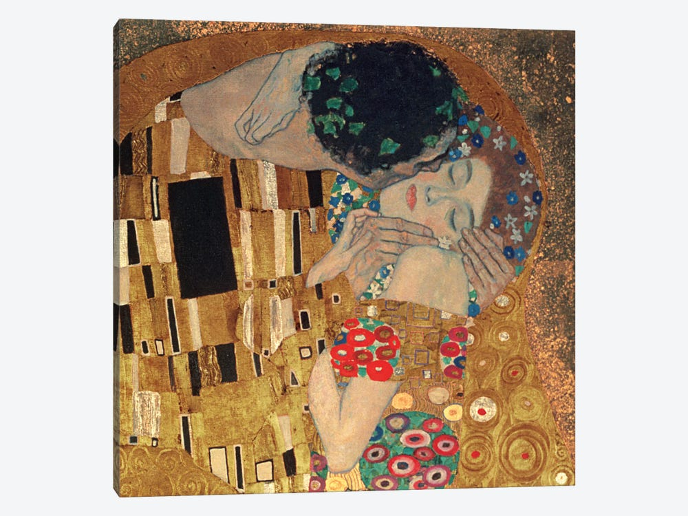 Il Bacio, Square Detail by Gustav Klimt 1-piece Canvas Art