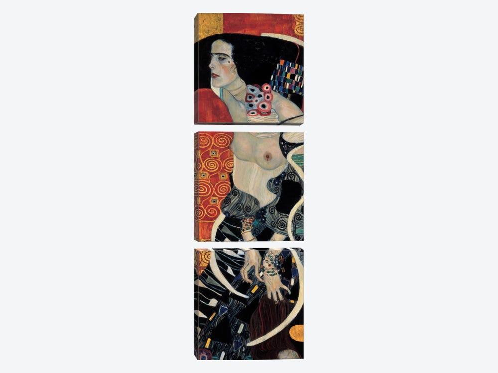 Judith II, 1909 by Gustav Klimt 3-piece Canvas Art