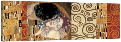 Klimt Deco (The Kiss) by Gustav Klimt Canvas Art Print