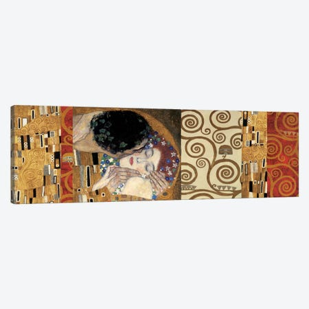 Klimt Deco (The Kiss) Canvas Print #GKL26} by Gustav Klimt Art Print