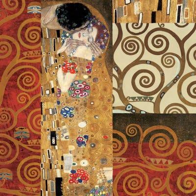 Klimt Details (The Kiss) Canvas Artwork by Gustav Klimt   iCanvas